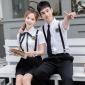 韩版校园风校服初高中大学生班服jk制服夏季背带裙毕业照男女套装