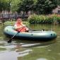 特厚钓鱼充气船三人渔船橡皮船船单人双人下网1/2/3/加厚皮划艇筏
