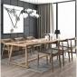 loft美式长桌实木会议桌简约办公桌长方形洽谈桌工作台工业风家具