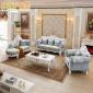 欧式沙发布艺组合123客厅整装小户型可拆洗简欧店铺奢华贵妃三人