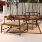 新中式餐椅实木太师椅售楼处洽谈椅酒店茶桌椅禅意简约样板房家具