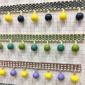 欧式新款小木珠多色窗帘花边大连原创家居配件纺织辅料厂家装饰品