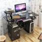 烤漆彩绘电脑桌台式家用台式机学习简易简约书桌办公桌写字台桌子