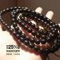 印尼黑金椰蒂项链108颗原色手串佛珠男散珠桶珠正圆耶蒂椰帝椰壳