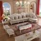 【实木真皮】欧式组合沙发客厅简欧奢华大小户型真皮转角组合现货