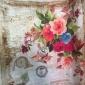 高级咖啡厅印花装饰布浪漫玫瑰花真丝缎窗帘丝绸面料