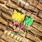 厂家直销 复古特东巴彩绘木质猫头鹰3铃挂件 吉祥车挂 店铺壁挂