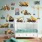 宝宝房间布置贴画贴纸墙贴儿童房小男孩墙画创意装饰玩具屋拖拉机