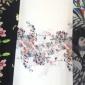 75d乱麻 植物印花涤纶布 春夏服装面料 裙子布料