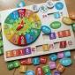 幼儿园教具 儿童时钟日历积木拼图大班益智玩具2-3-4-6岁认知早教
