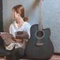 复古色民谣吉他41寸40寸黛青色男女木吉他入门吉它学生初学者乐器