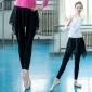 拉丁舞裙裤不规则新款芭蕾舞雪纺假两件舞蹈练功裤紧身女成人