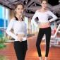 瑜伽服春夏新款 莫代尔紧身裤健身房服运动背心跑步服三件套批发